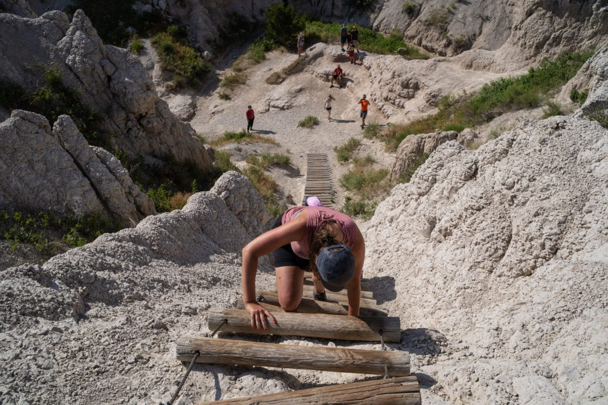 notch trail ladder badlands