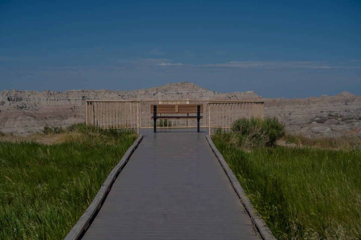 badlands national park viewing area