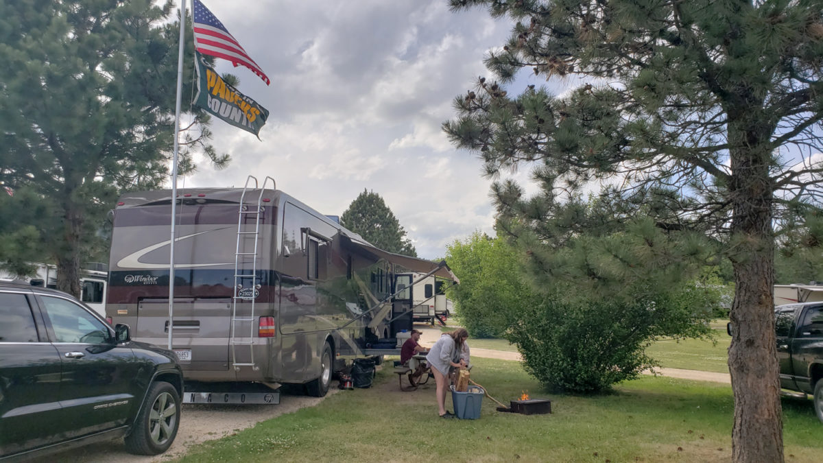 rv camping western south dakota