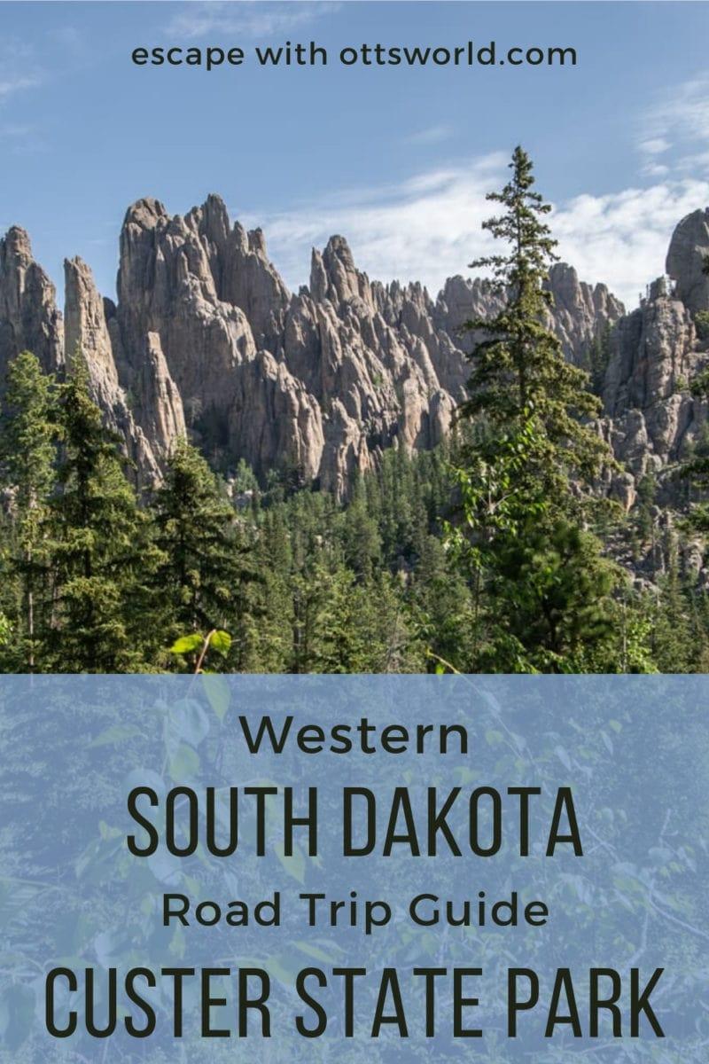 rocky peaks custer state park south dakota usa