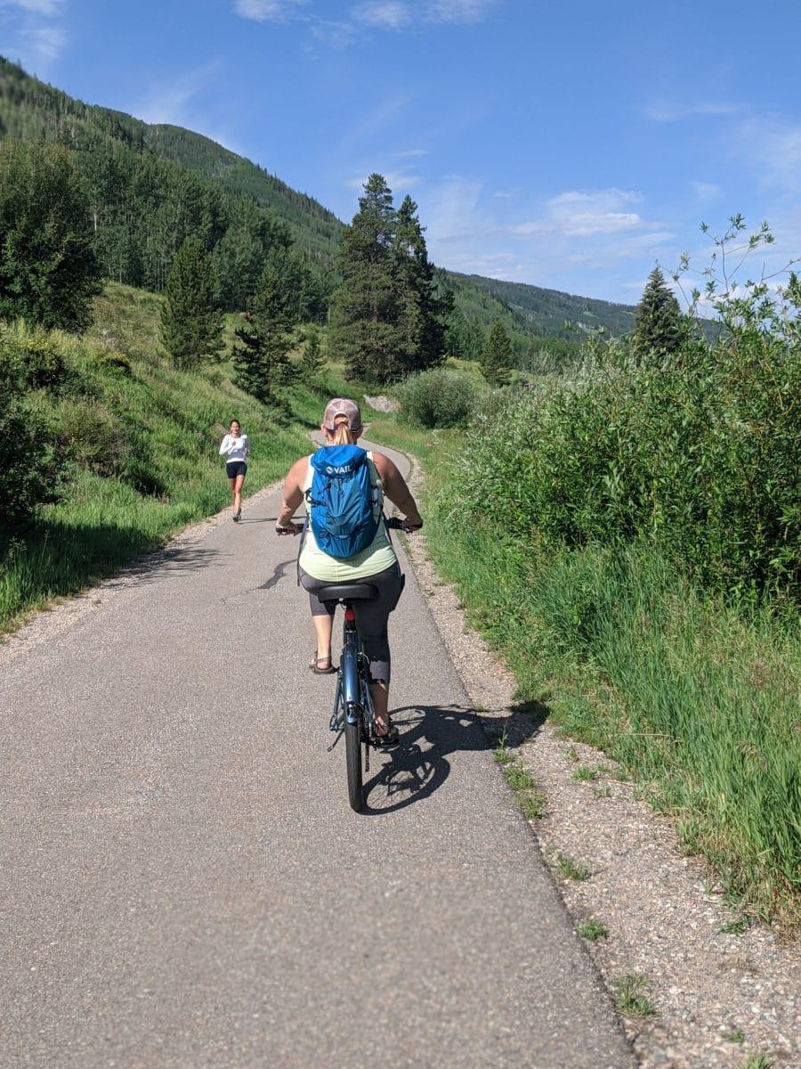 biking in vail