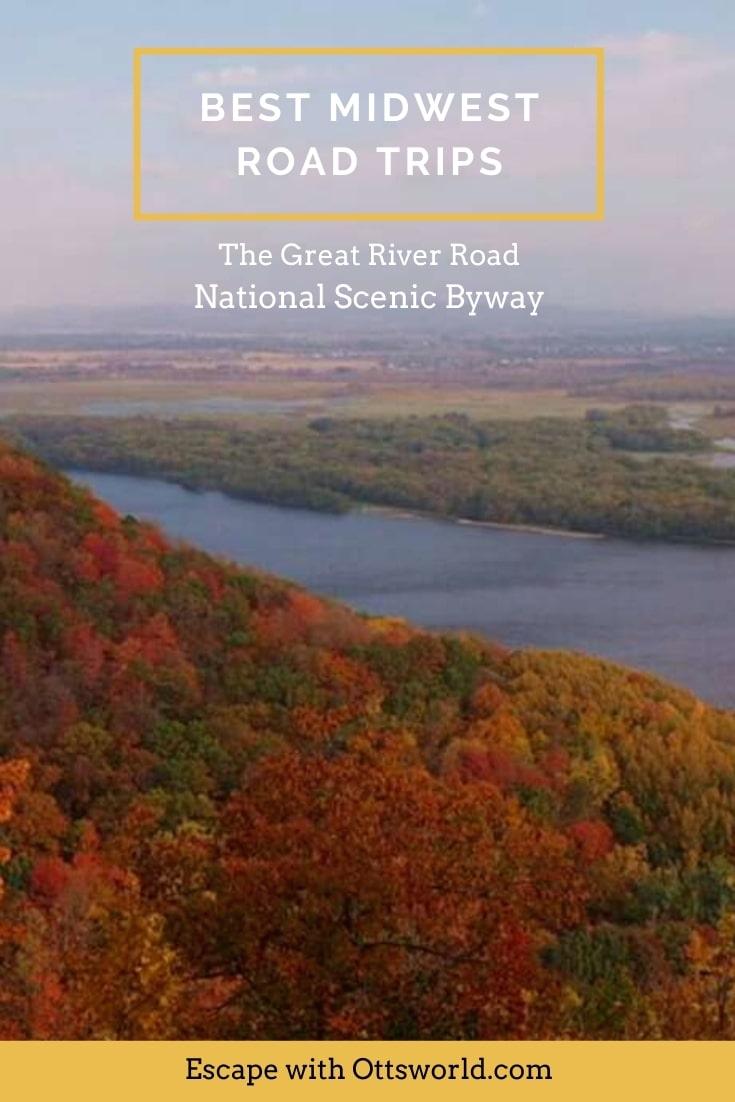 river landscape autumn fall trees color