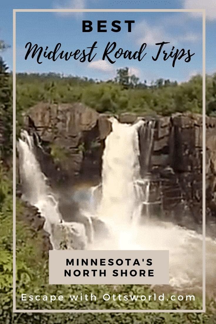grand portage waterfall minnesota usa