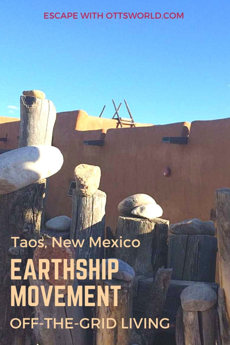 Earthship structure in Taos New Mexico
