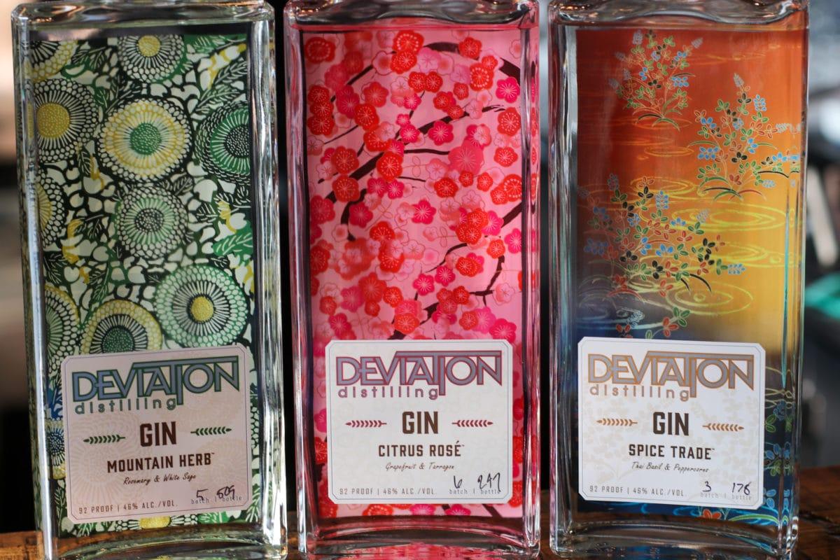 Deviation Distillery bottles