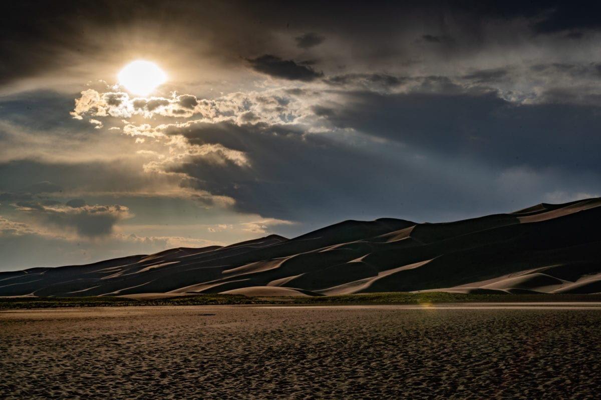 sunset great sand dunes national park