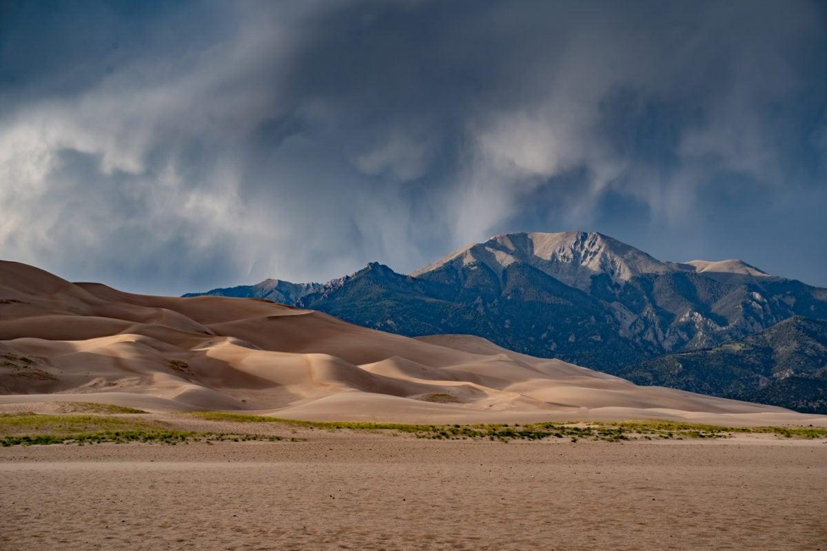 colorado sand dunes storm