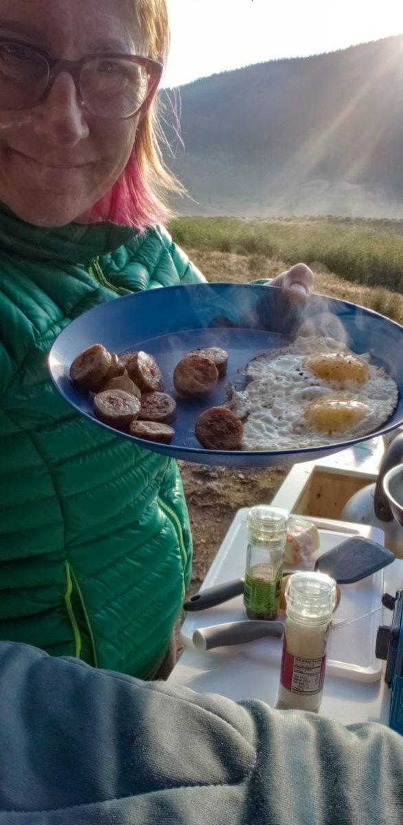 campervan cooking crested butte