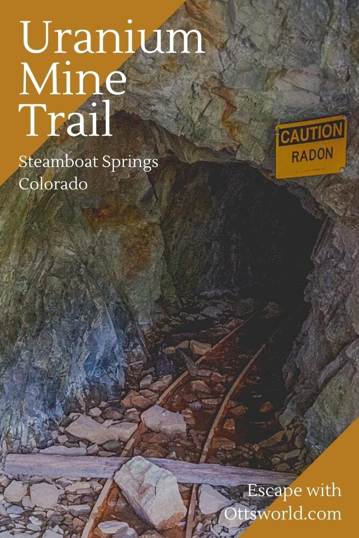 uranium mine opening with rail tracks