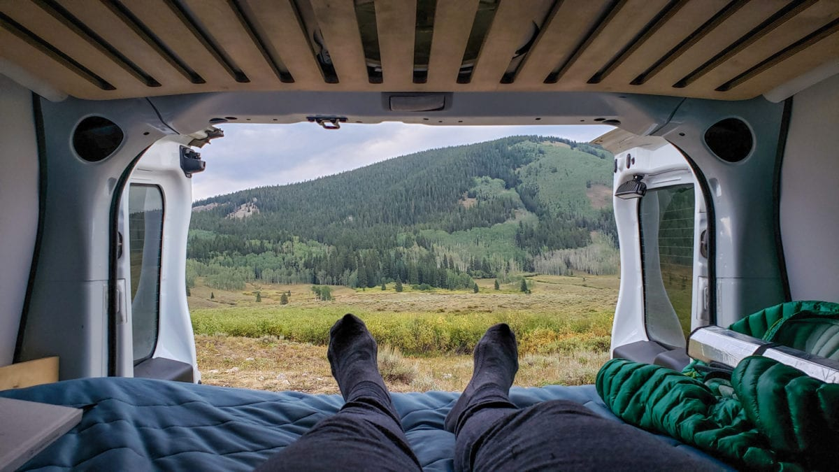 campervan view road trip by yourself