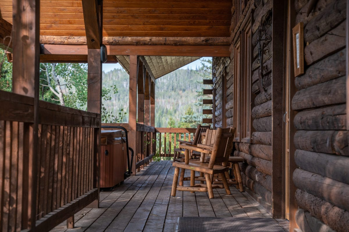 porch cabin vista verde