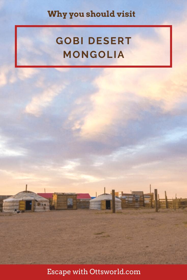 ger huts in the gobi desert mongolia