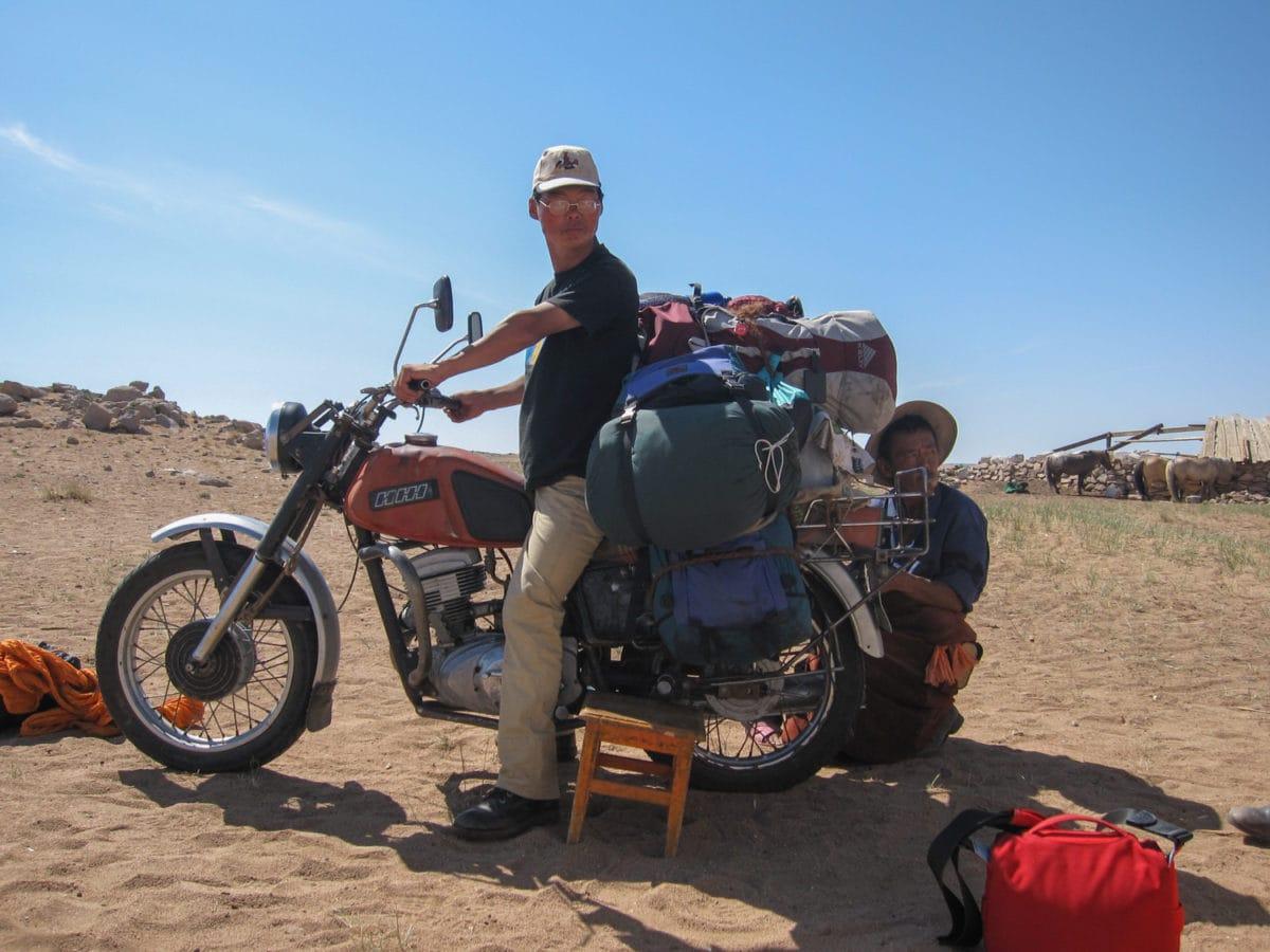 motorcycle luggage mongolia