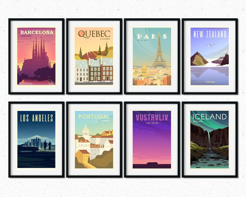 country posters for travelers