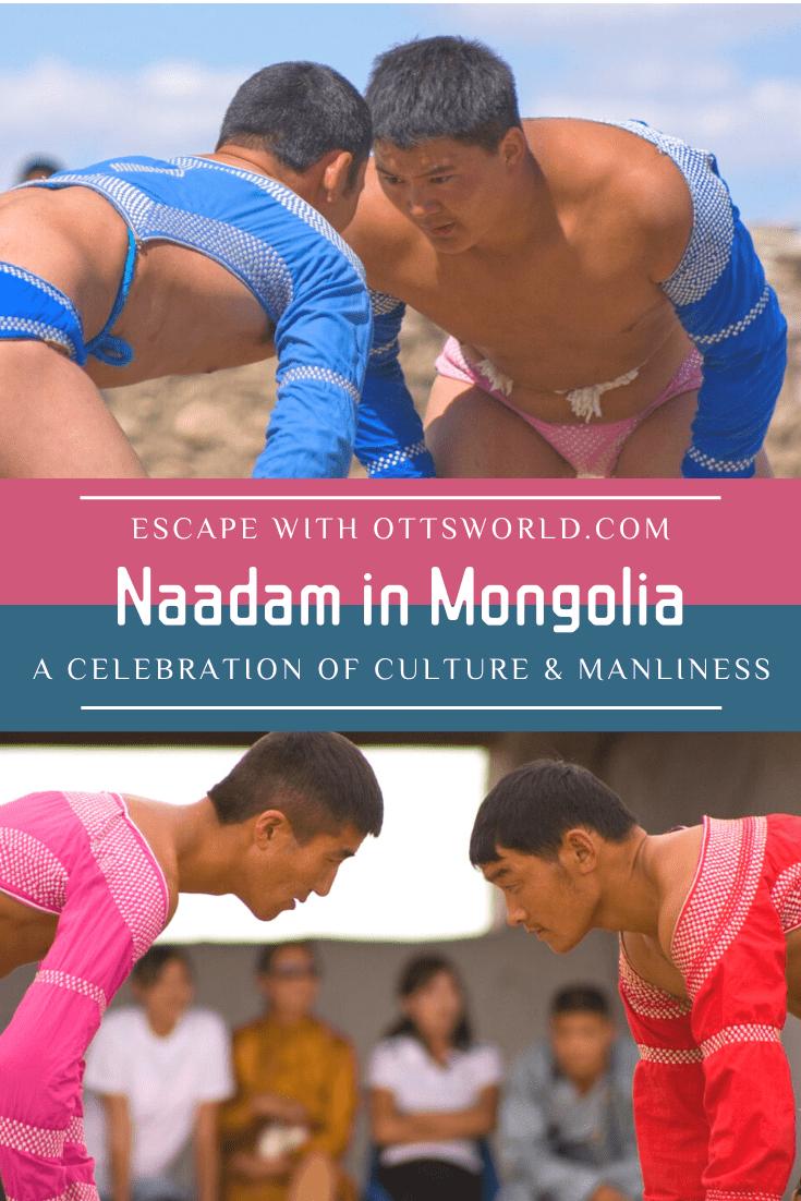 mongolian wrestlers face off