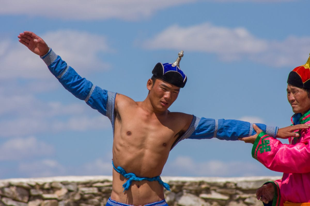 mongolian wrestling victory dance