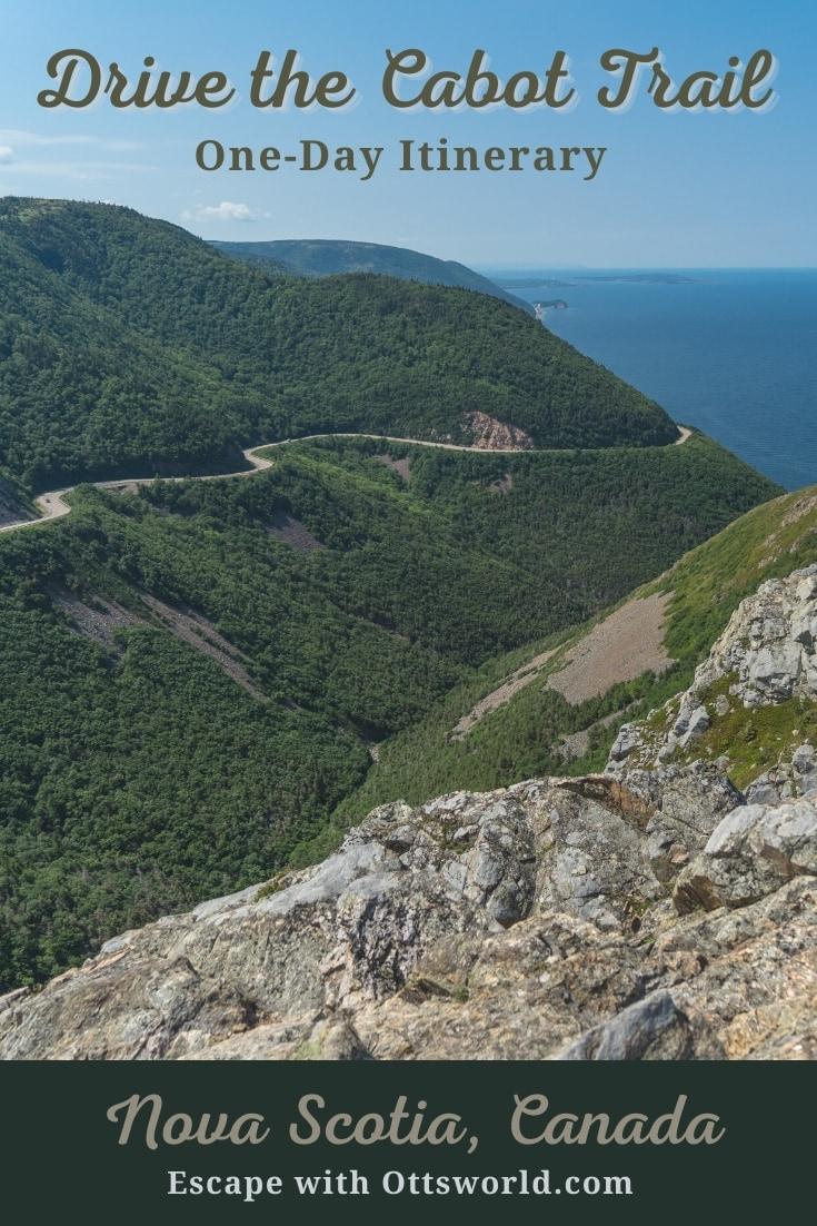 Section of Cabot Trail Cape Breton Nova Scotia Canada