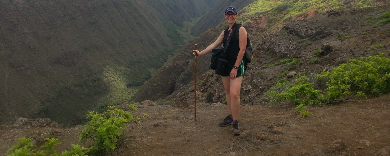 hiking on lanai