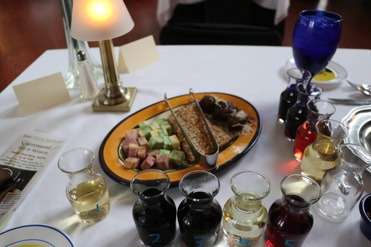 Claremont inn wine tasting