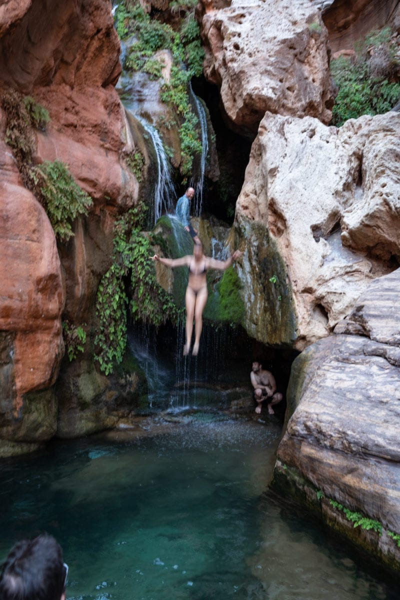 Elves Chasm Grand Canyon jump