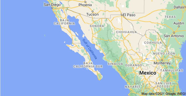where is the sea of cortez map