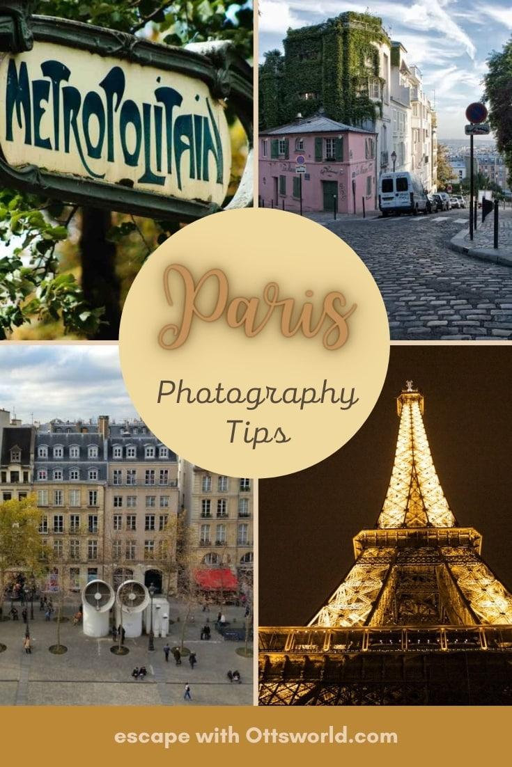 Collage of Paris landmarks