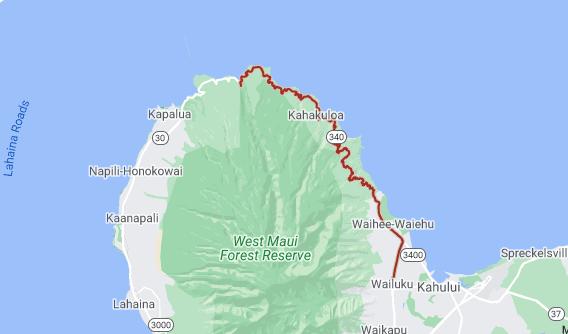 kahekili highway map