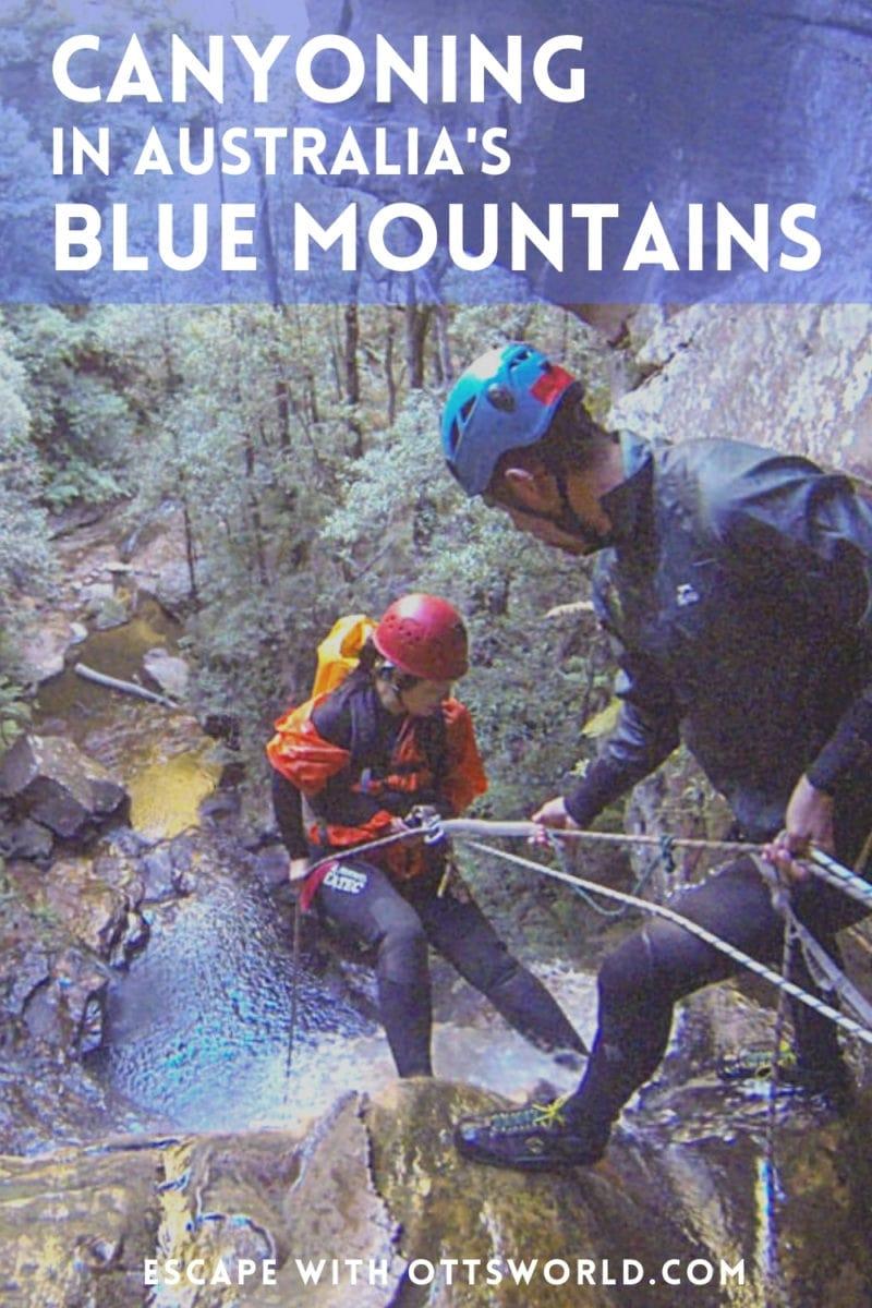 rapelling canyoning Australia Blue Mountains