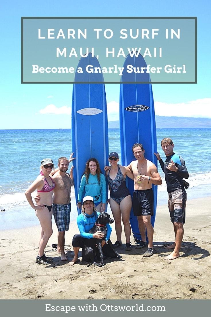 surfers and surfboards on Maui Hawaii beach