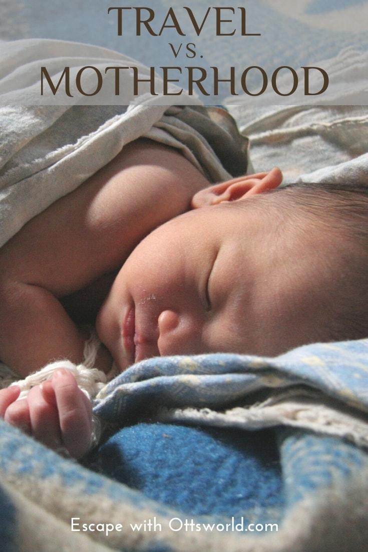 sleeping infant baby on blanket