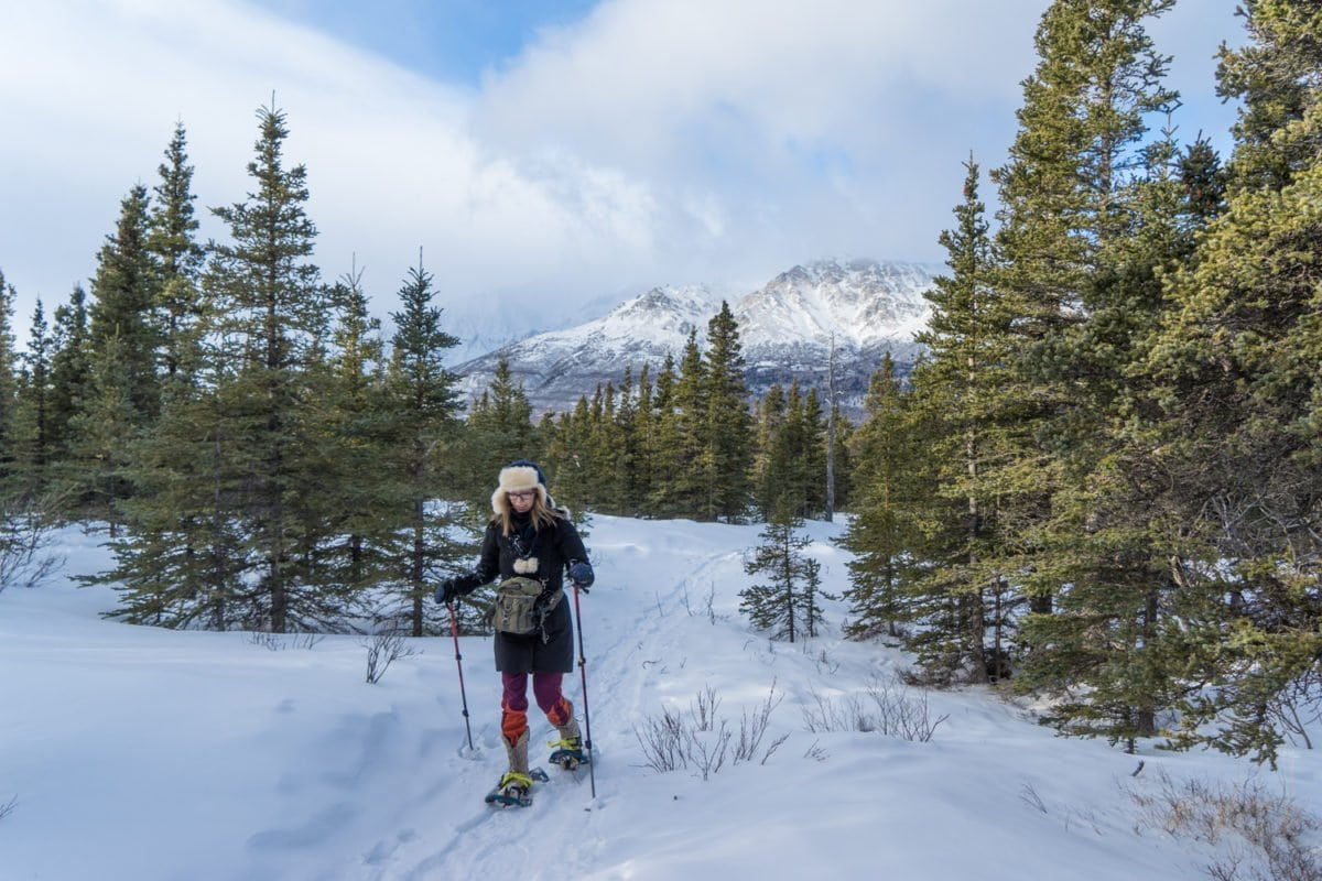 beginner snowshoeing alaska