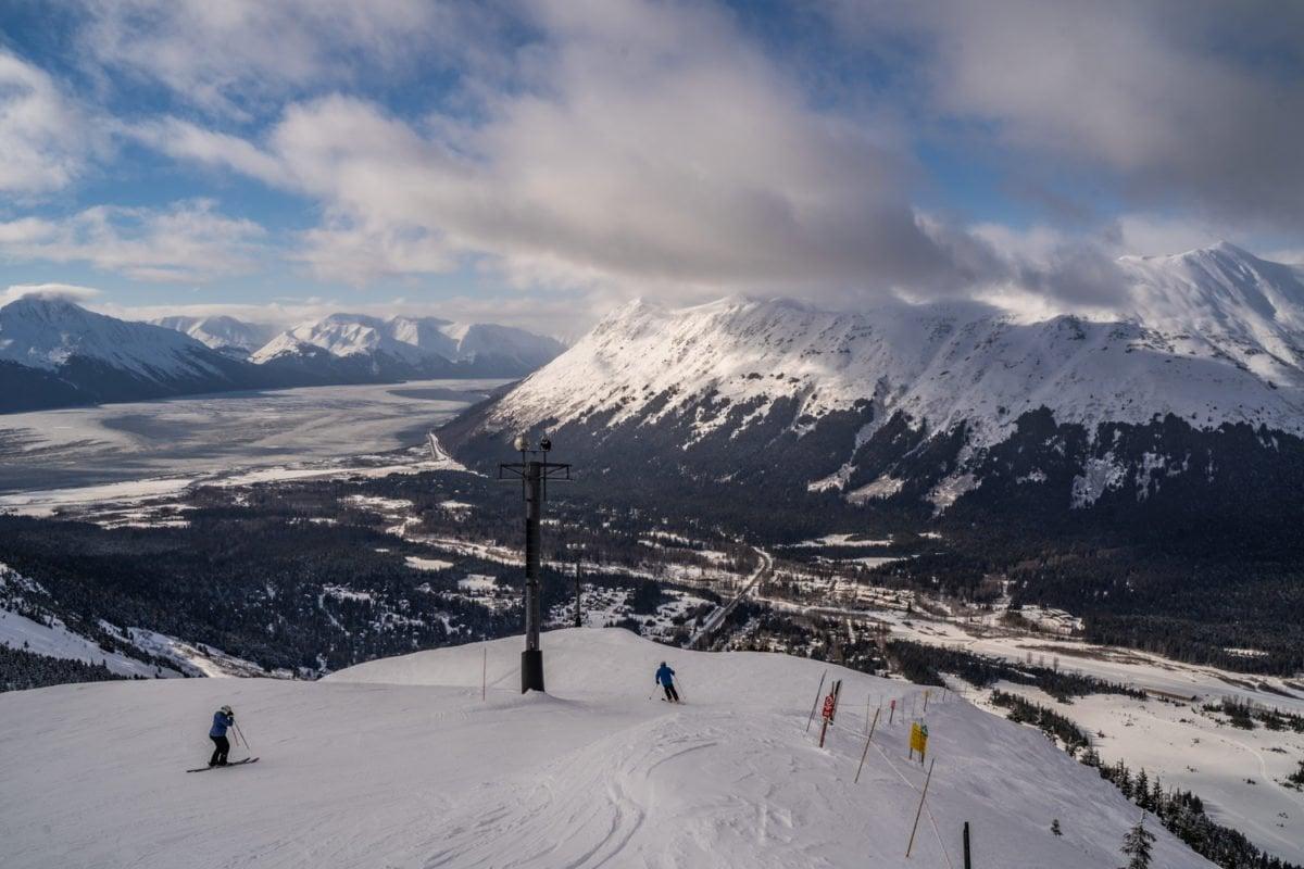 skiing in Alaska