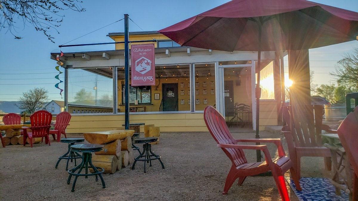 Highlands Distillery patio Grand Junction CO