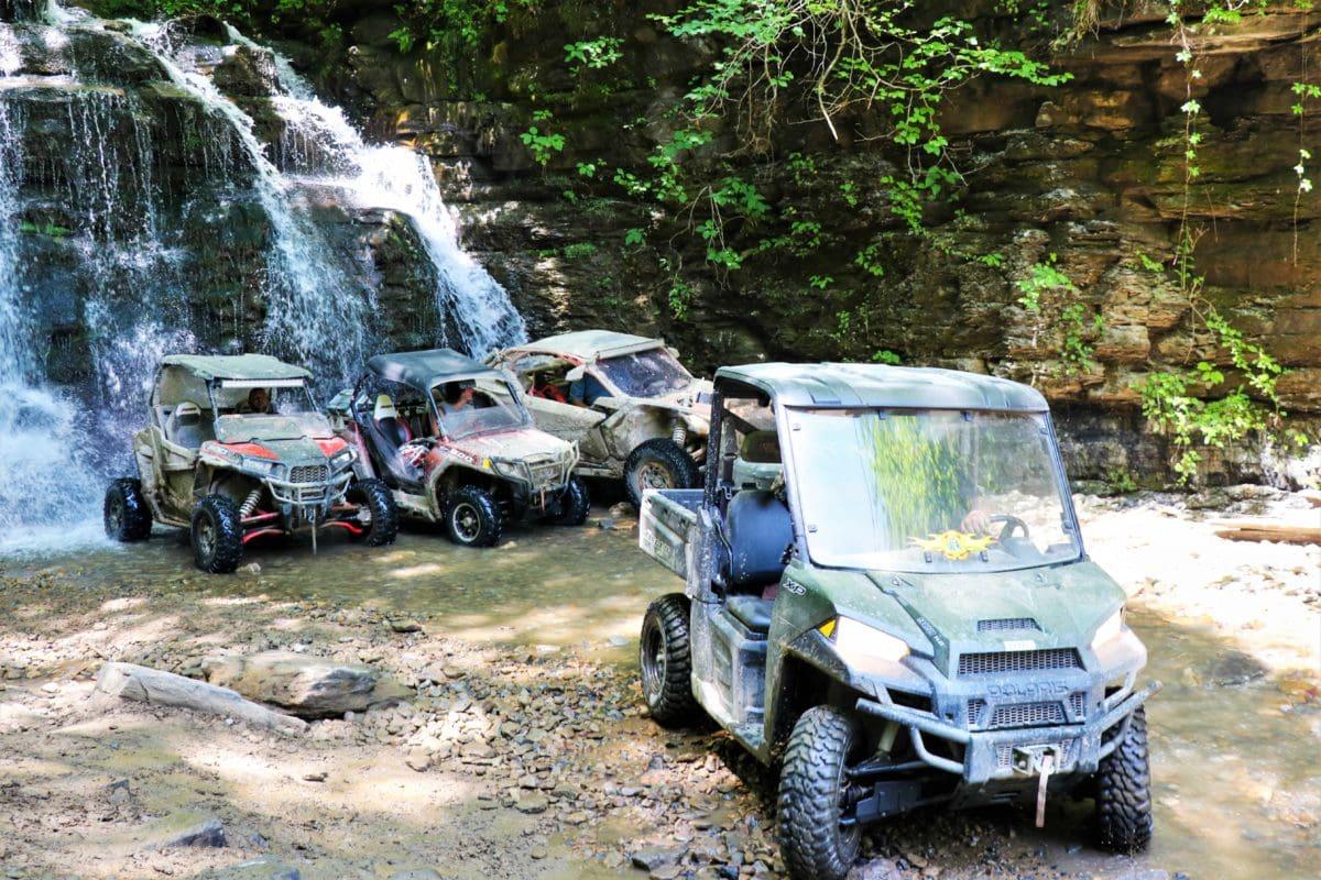 ATV waterfall wash hatfield and mccoy trail