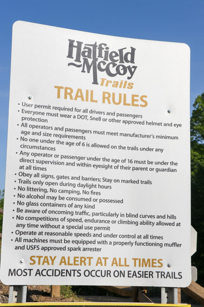Hatfield and McCoy trail system