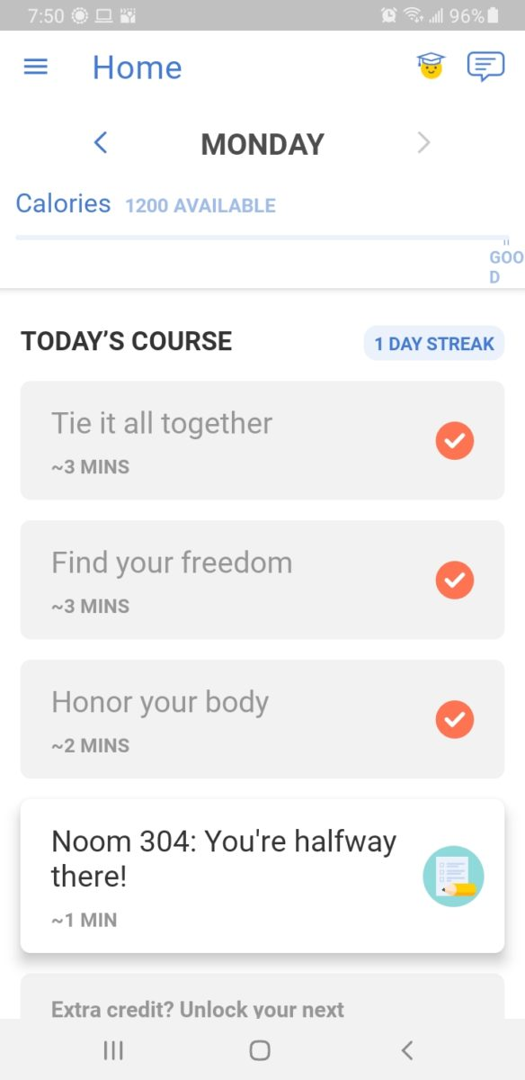 Noom Daily lessons