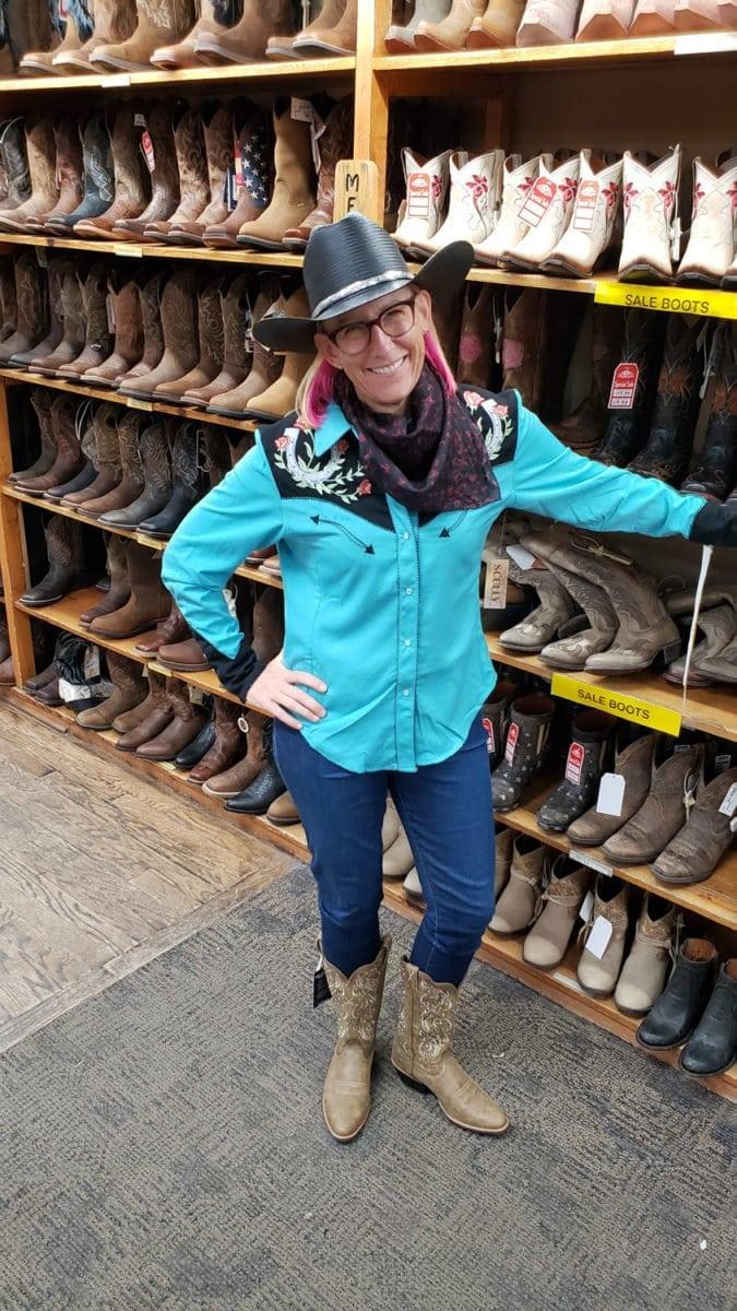 Western wear cowgirl
