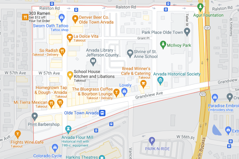 map of olde town arvada