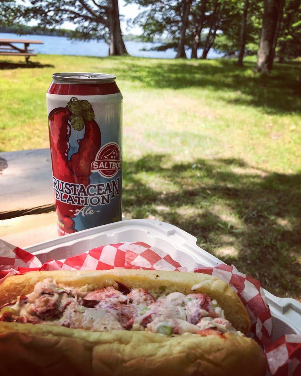 Nova Scotia lobster and beer