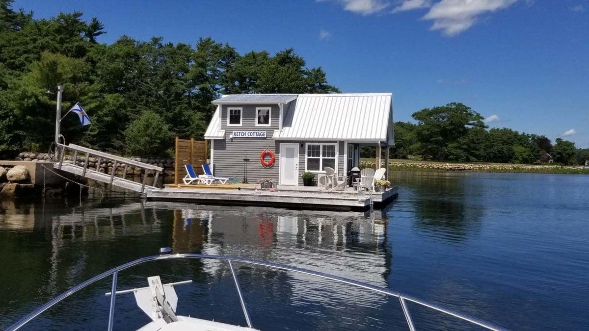 ketch floating cottage