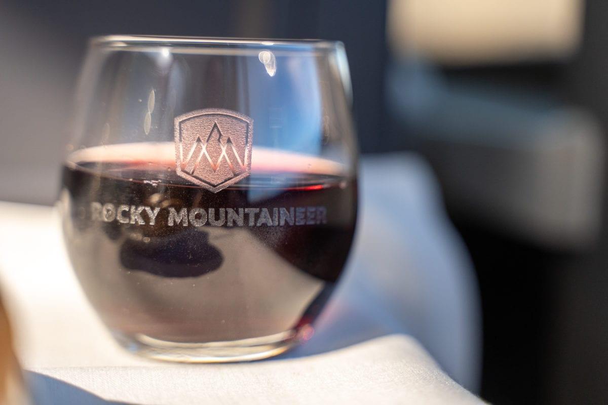 Rocky mountaineer drinks