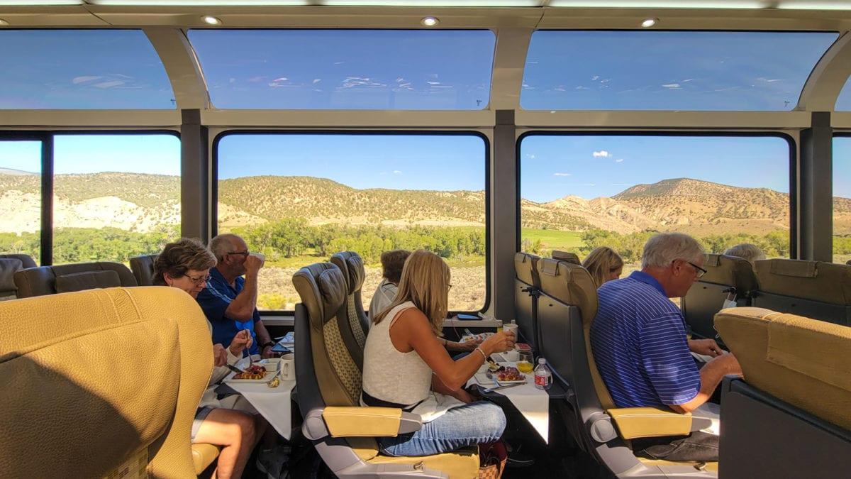 luxury train colorado moab