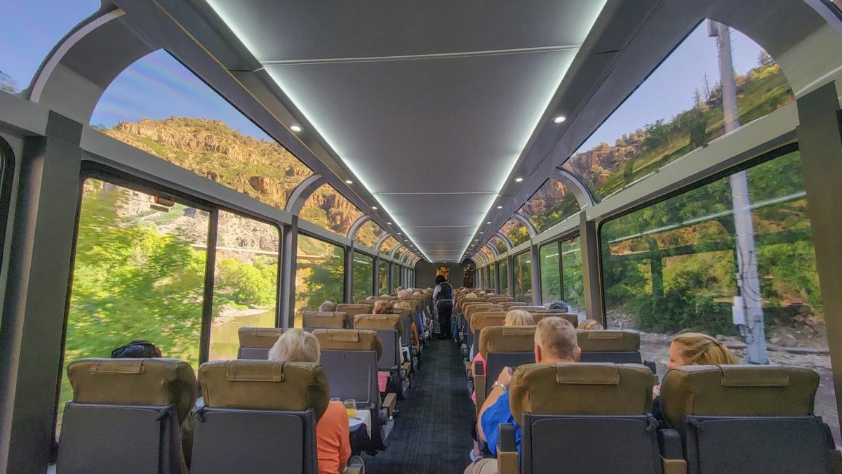 Glenwood Canyon by train
