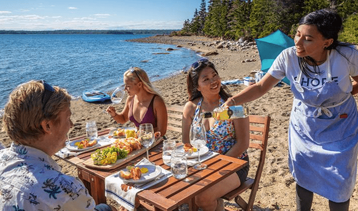 Lobster on an island nova scotia