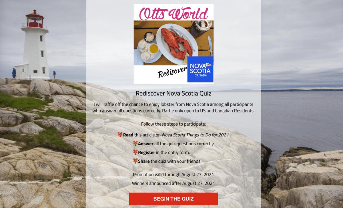 Nova Scotia Lobster Giveaway