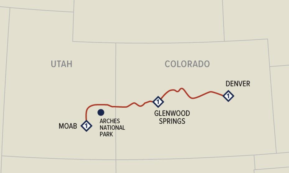 Rocky Mountaineer Colorado map