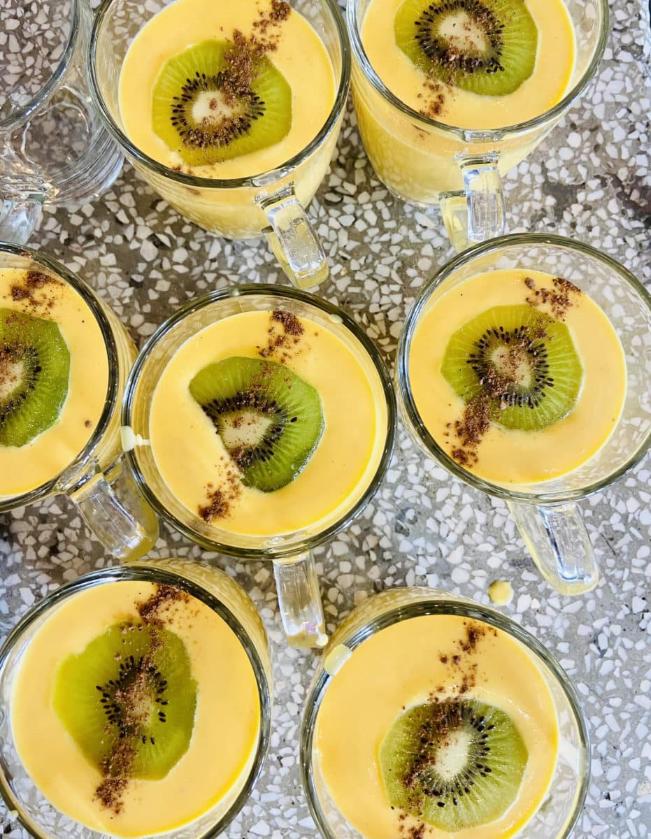 Cantaloupe and rum soup