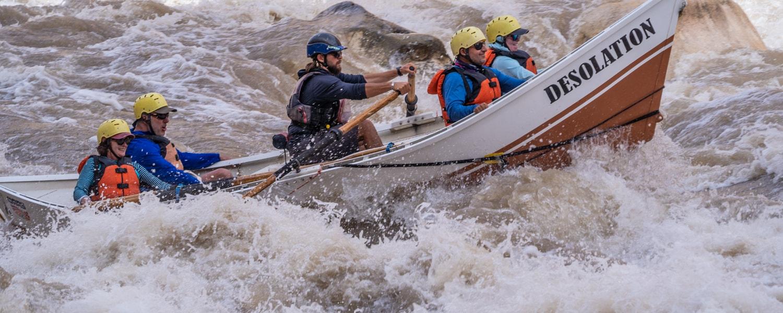 Cataract canyon rafting dory