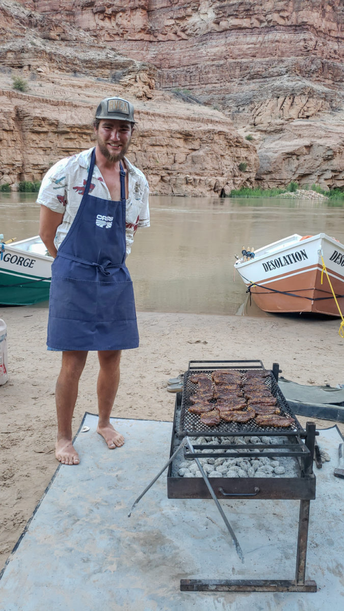 oars river rafting food