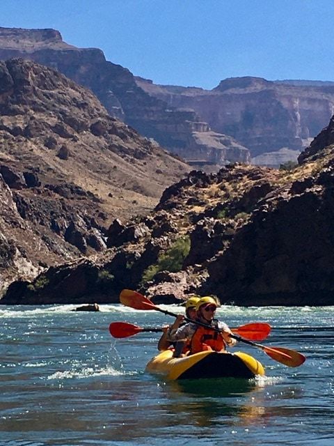 kayaking colorado river duckie